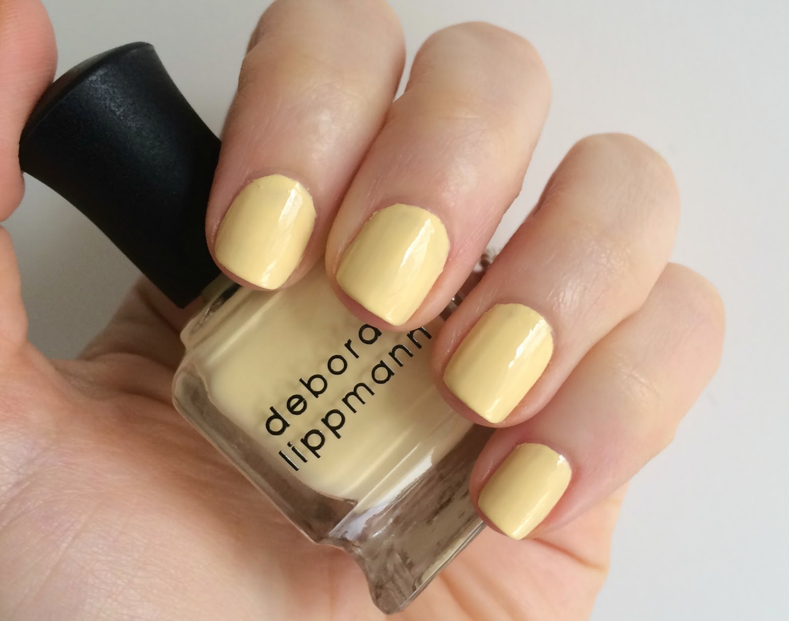Deborah Lippmann Build Me Up Buttercup swatch