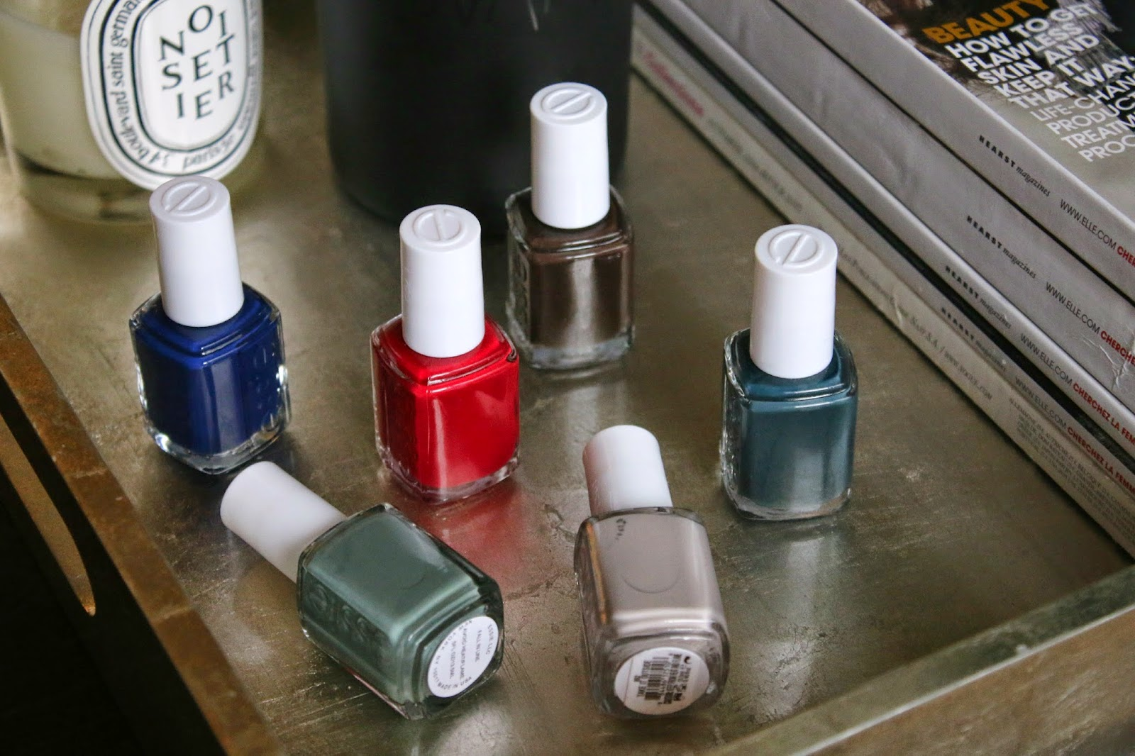 Essie Fall 2014 Collection with swatches on fair skin
