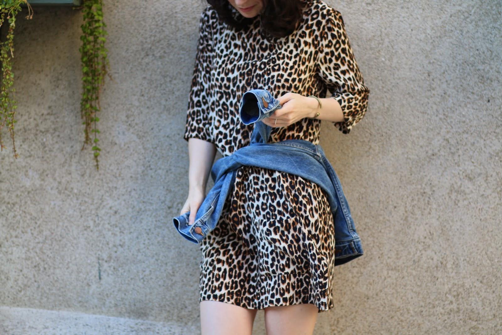 Equipment Leopard Dress