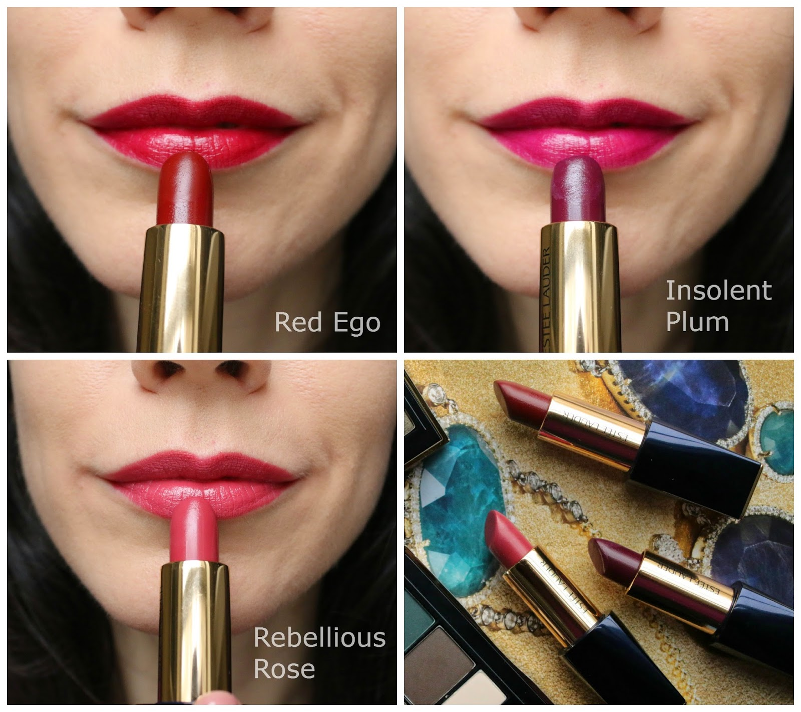 Estee Lauder Pure Color Envy Lipstick Swatches on fair skin