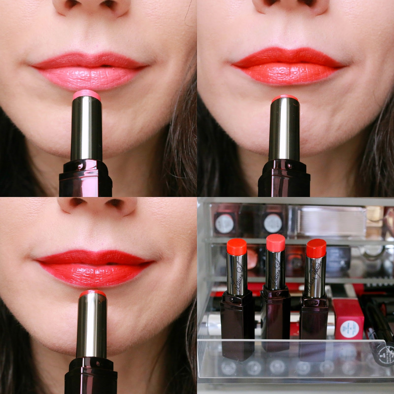 Laura Mercier Lip Parfait Colourbalm swatches