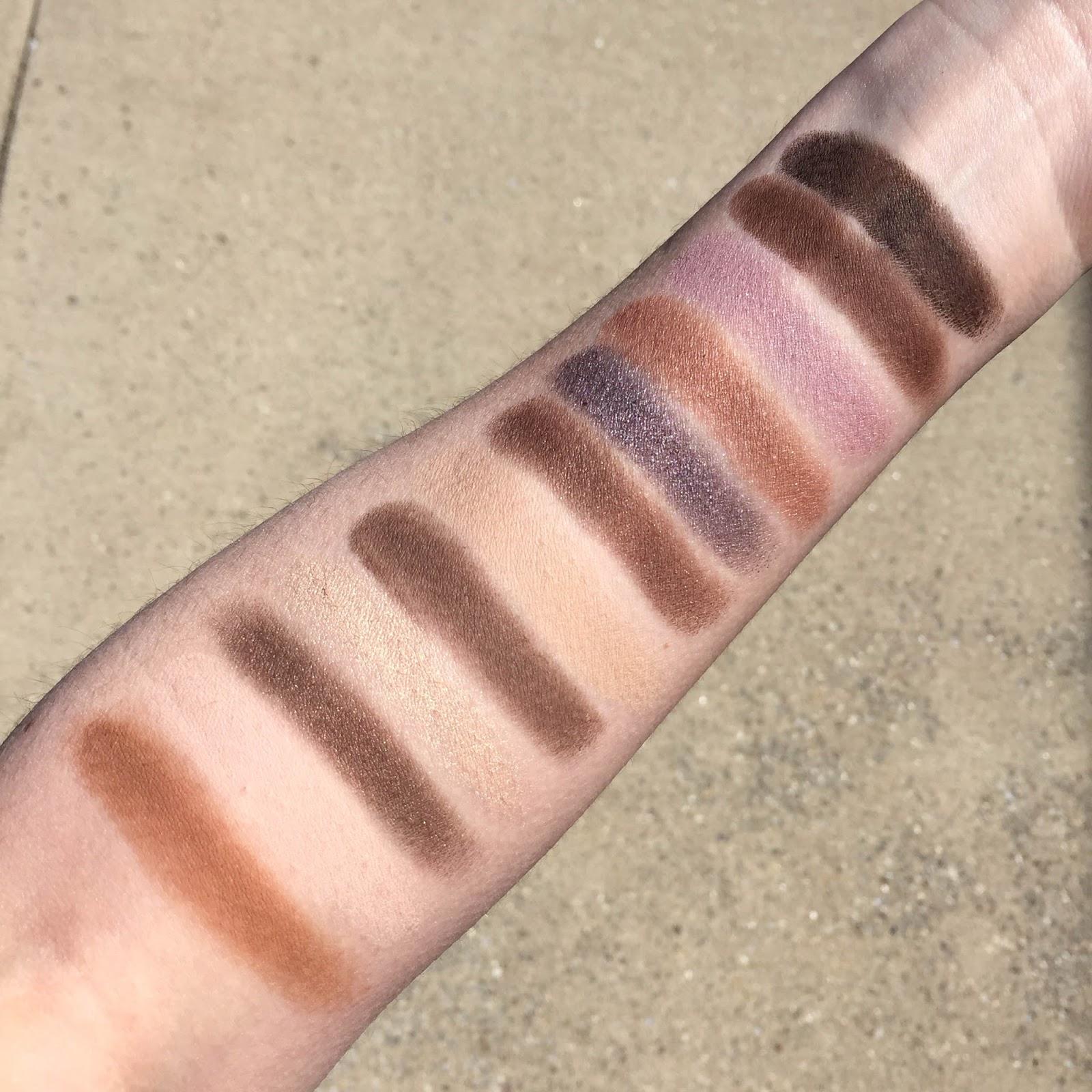 Laura Mercier Extreme Neutrals palette with swatches on fair skin