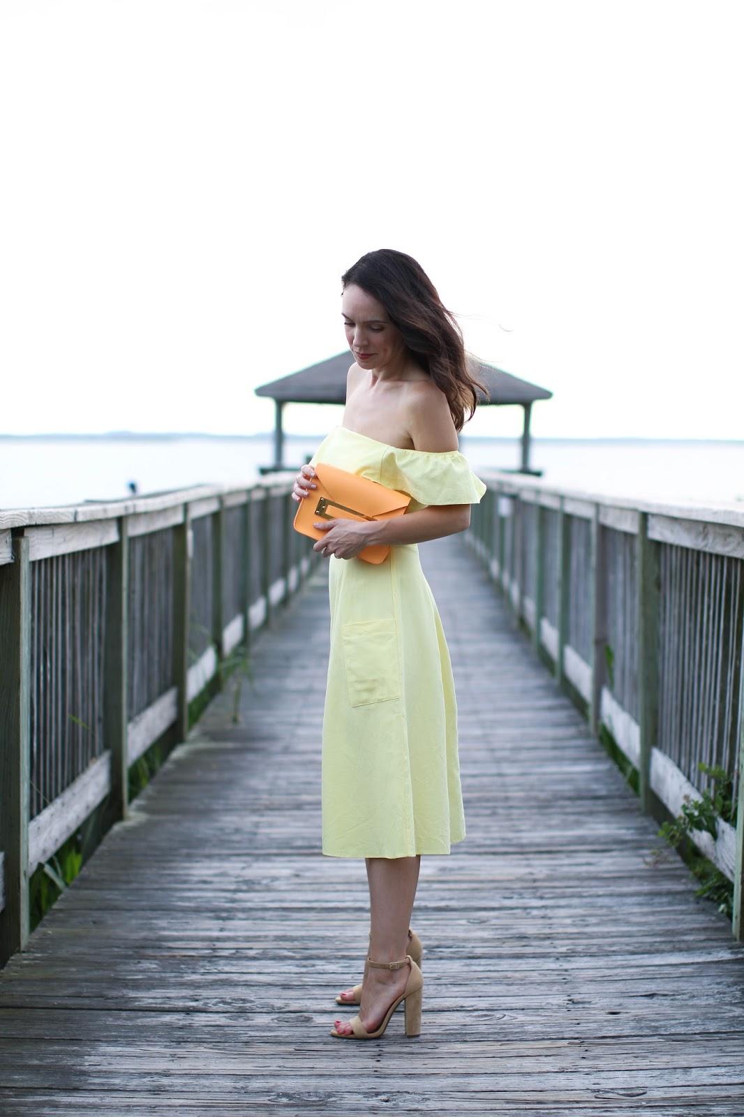 Asos off the shoulder dress