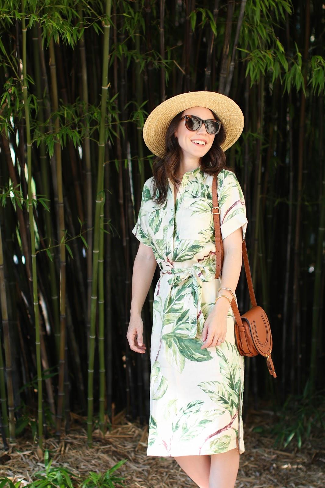 Ann Taylor leaf print dress