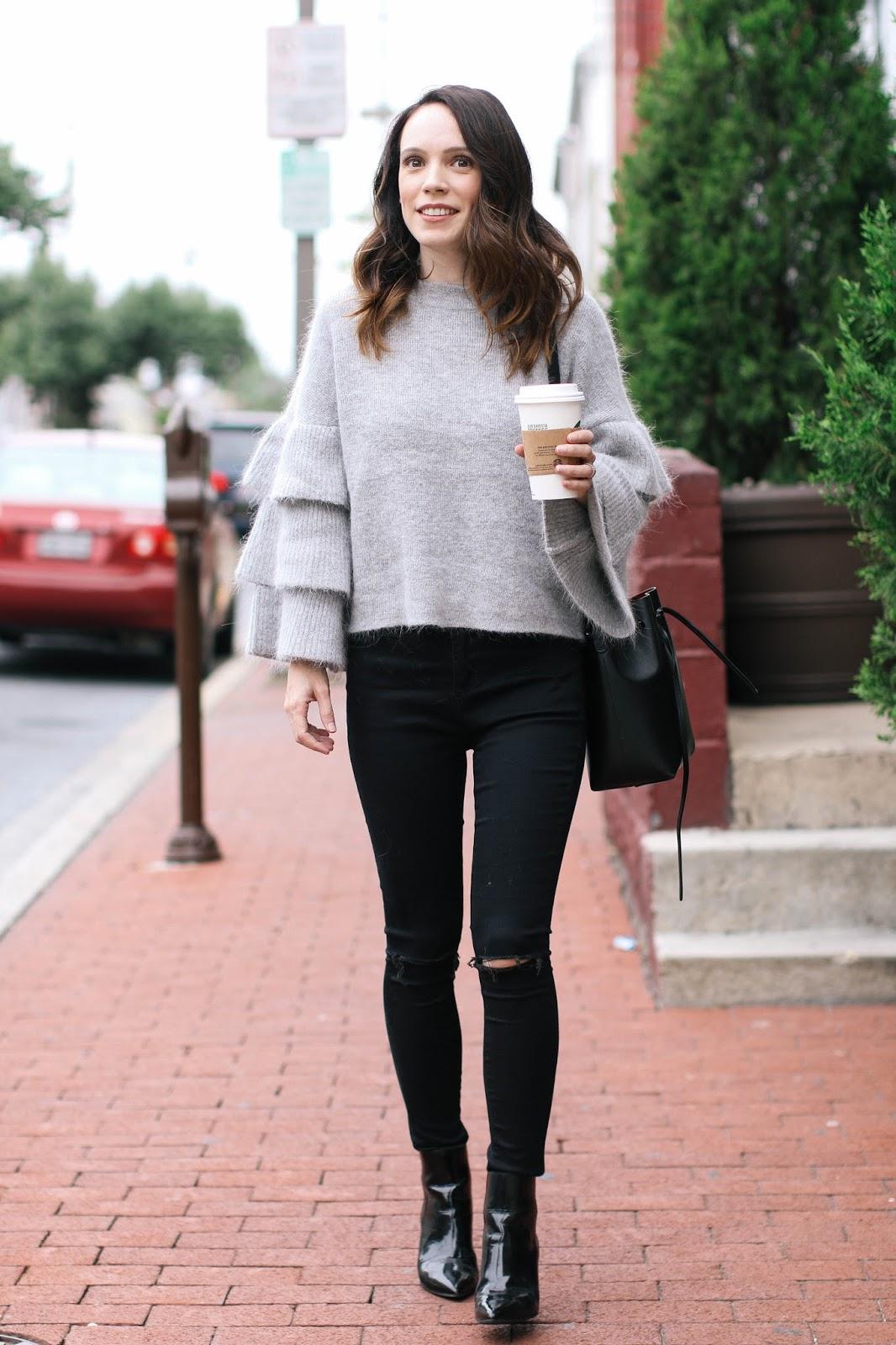 Endless Rose Ruffle Sleeve Sweater