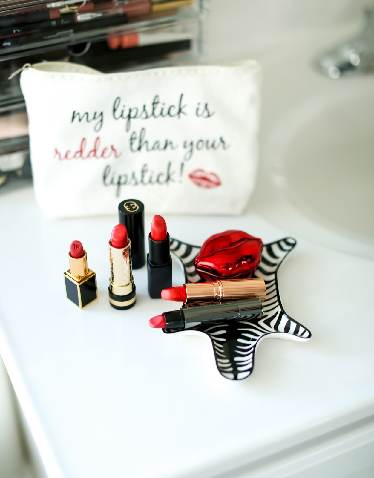 5 red lipsticks for the holidays.
